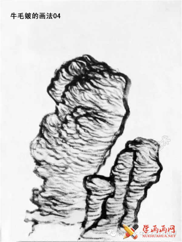 国画山石的画法(38)