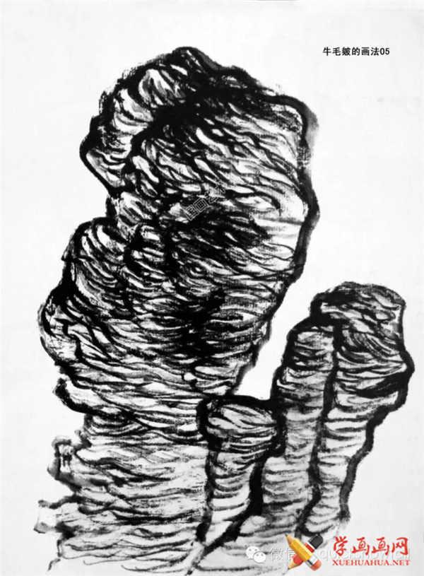 国画山石的画法(39)