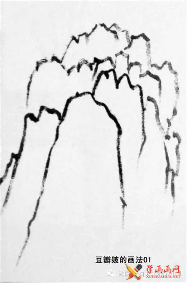 国画山石的画法(40)