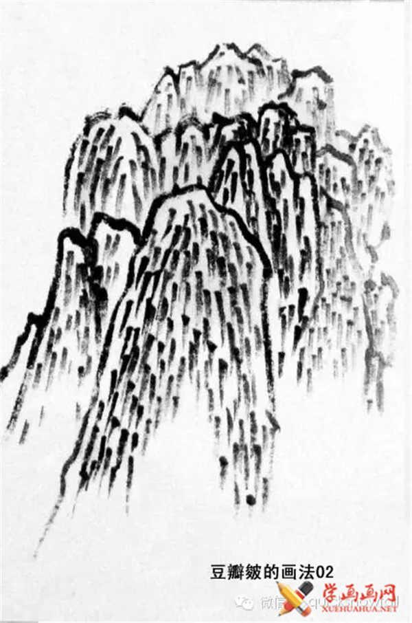 国画山石的画法(41)