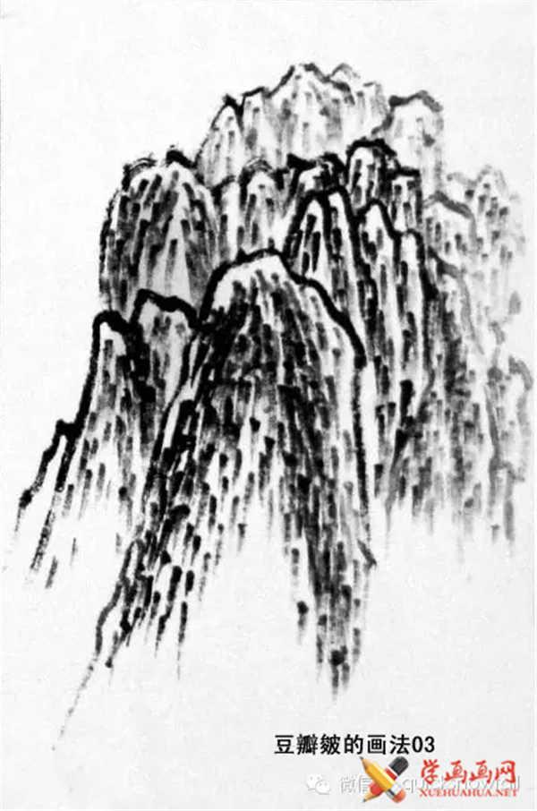 国画山石的画法(42)