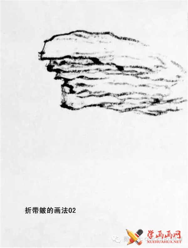 国画山石的画法(44)