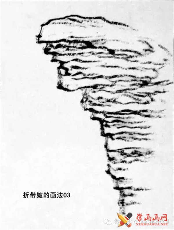 国画山石的画法(45)