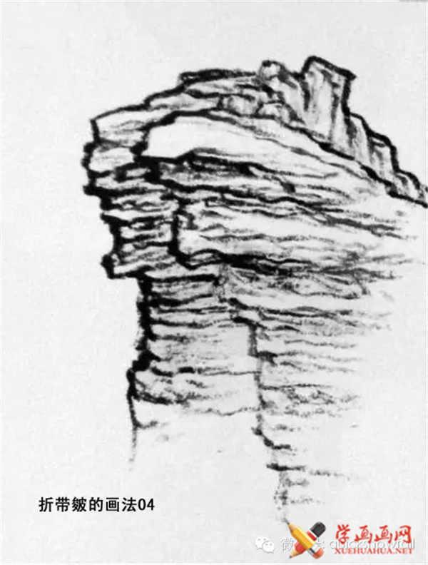 国画山石的画法(46)