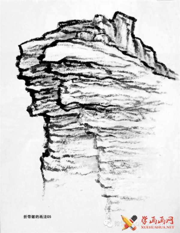 国画山石的画法(47)