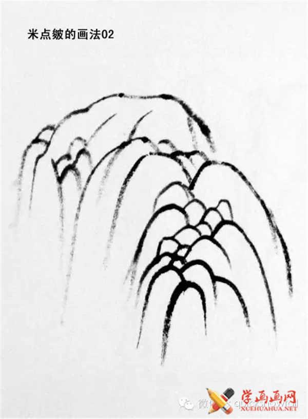国画山石的画法(54)