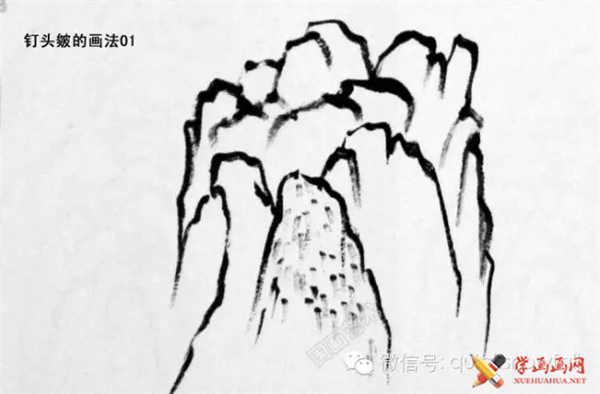 国画山石的画法(58)