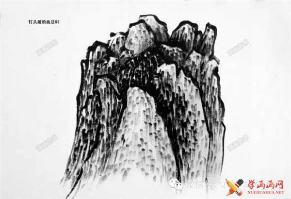 国画山石的画法(60)