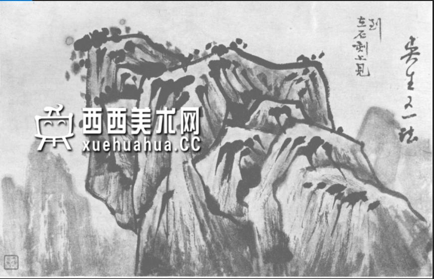 国画山石皴法详解(多图预警)(1)