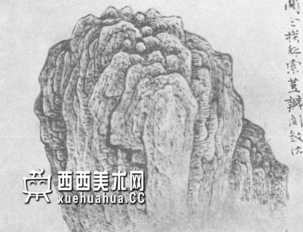 国画山石皴法详解(多图预警)(15)