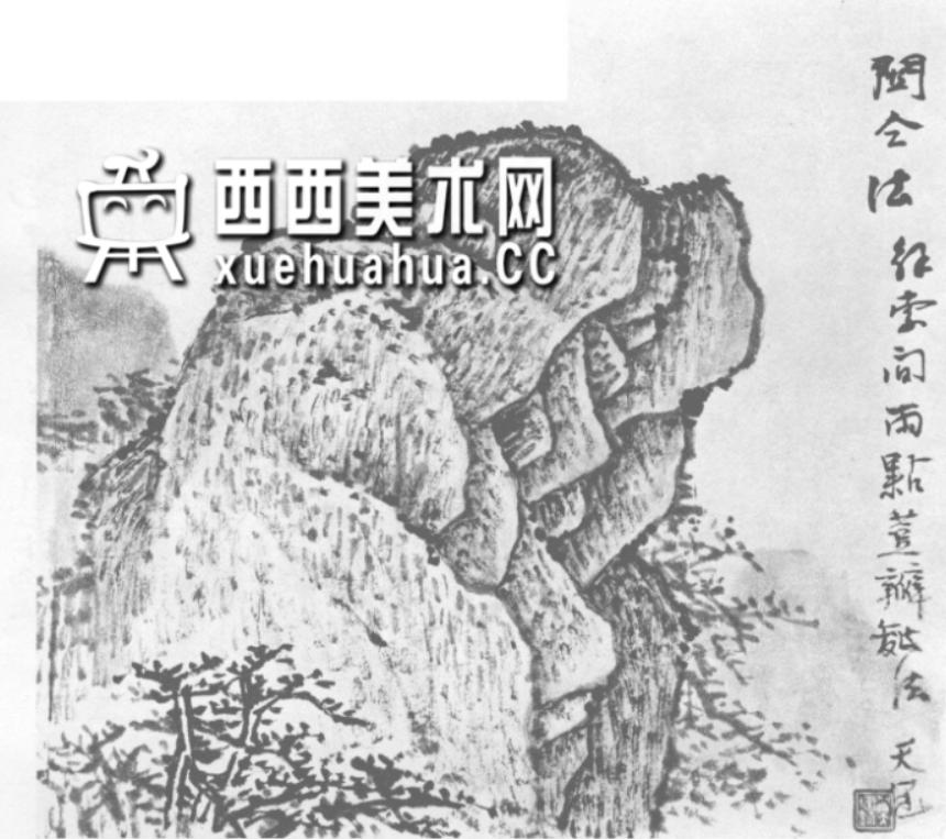 国画山石皴法详解(多图预警)(17)