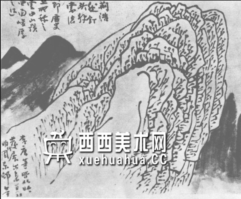 国画山石皴法详解(多图预警)(11)