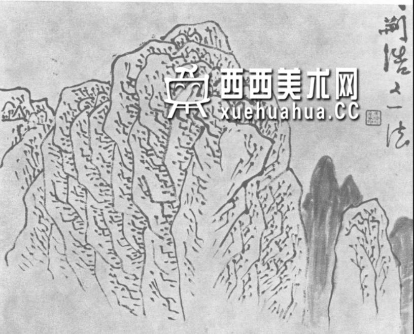 国画山石皴法详解(多图预警)(12)