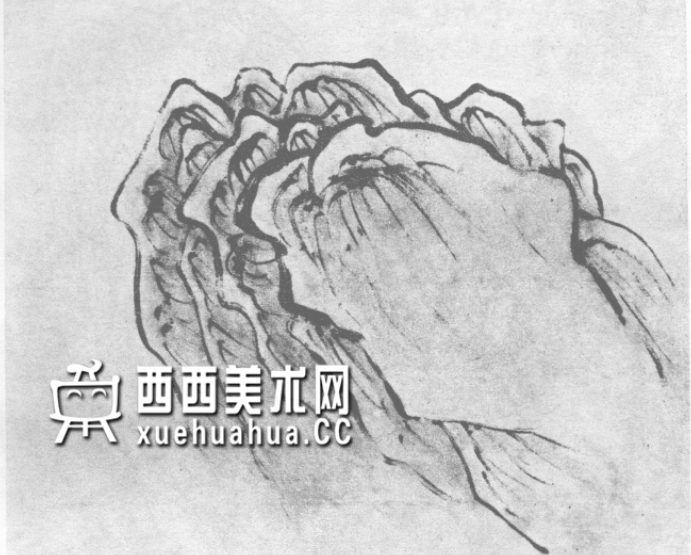 国画山石皴法详解(多图预警)(9)