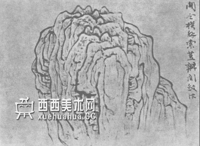 国画山石皴法详解(多图预警)(13)
