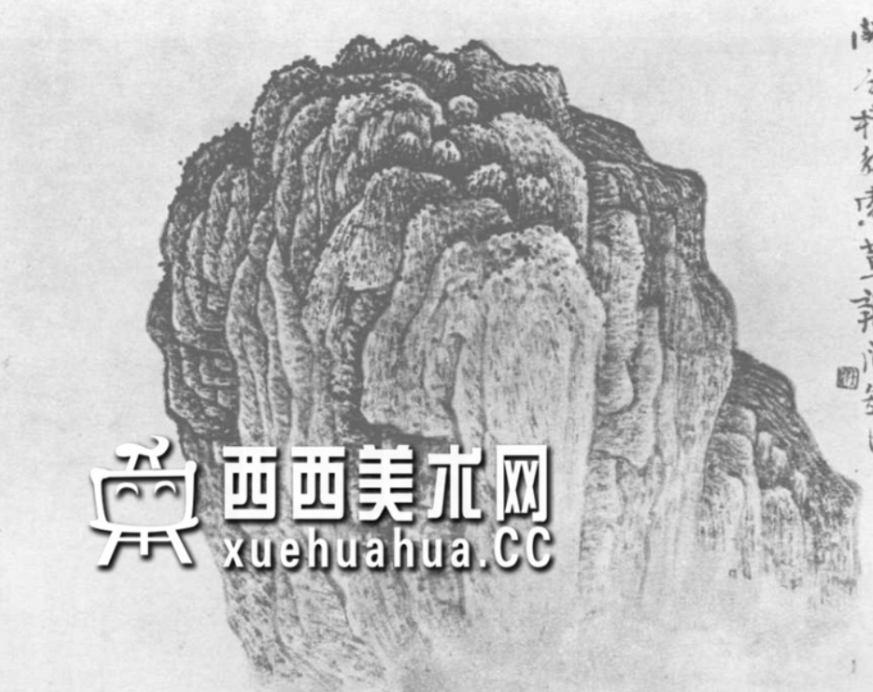 国画山石皴法详解(多图预警)(16)