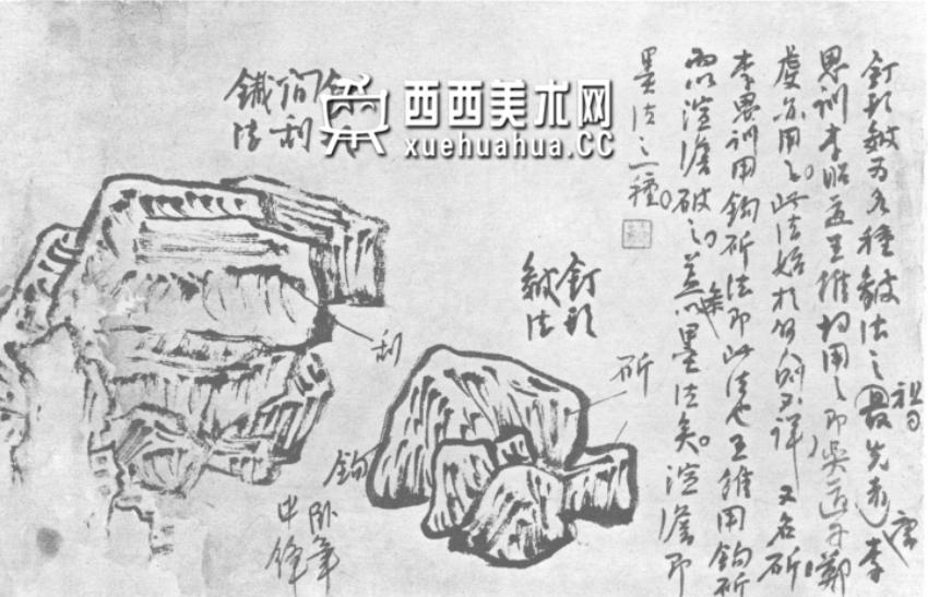 国画山石皴法详解(多图预警)(2)