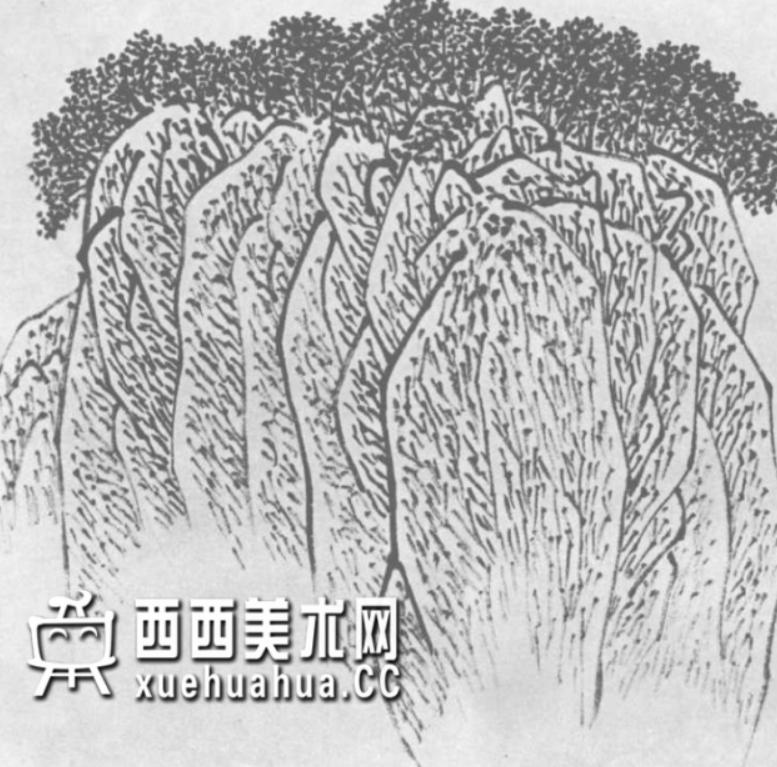 国画山石皴法详解(多图预警)(19)