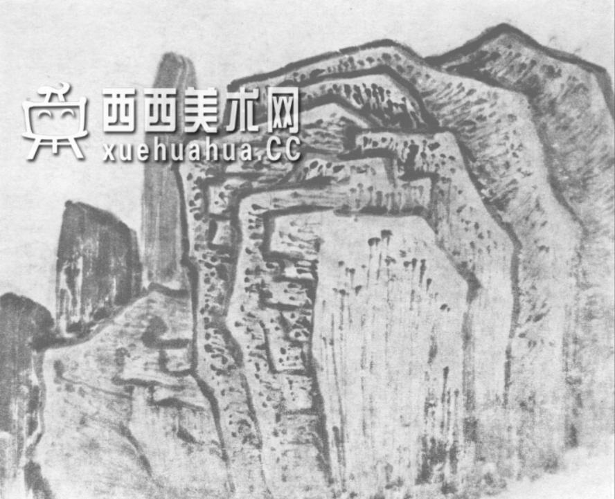 国画山石皴法详解(多图预警)(40)