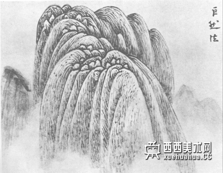 国画山石皴法详解(多图预警)(30)