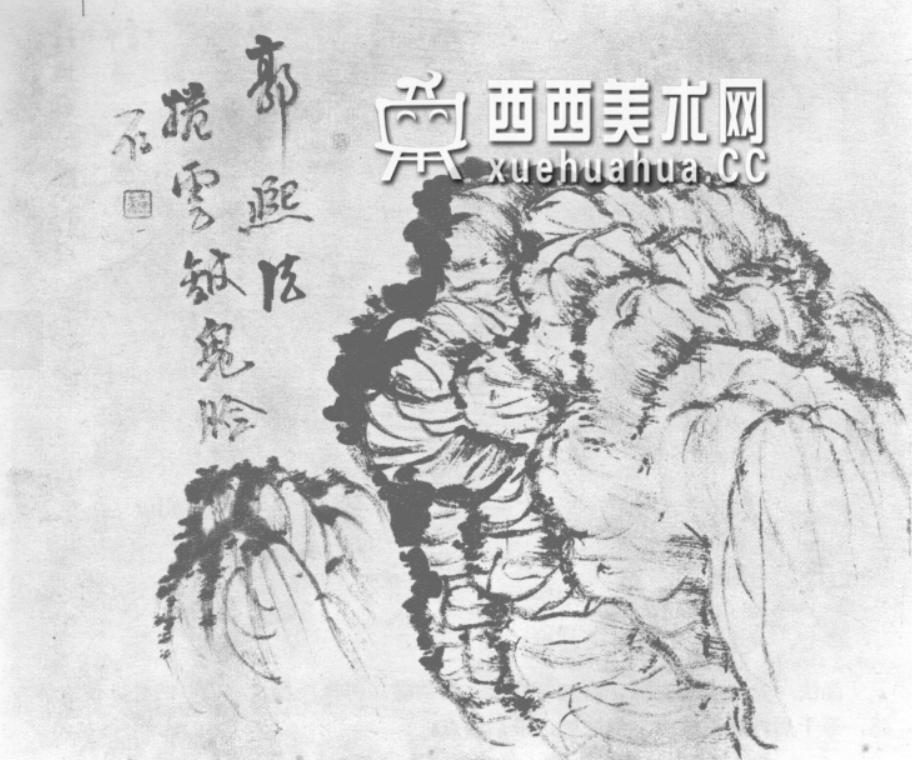 国画山石皴法详解(多图预警)(36)
