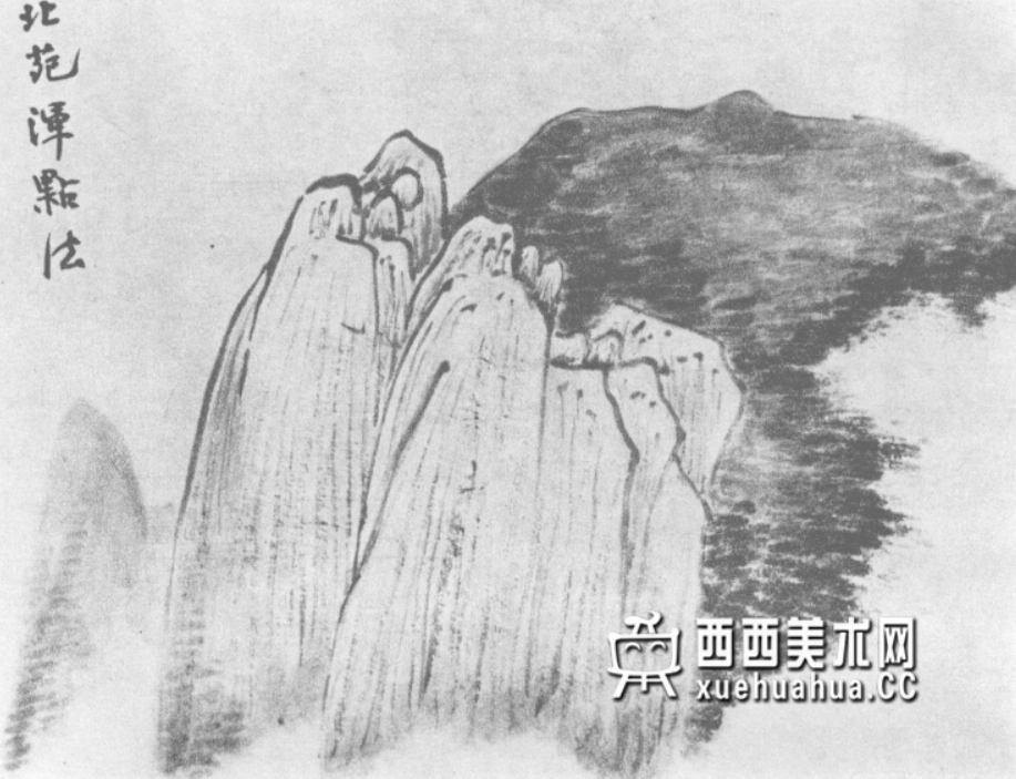 国画山石皴法详解(多图预警)(27)