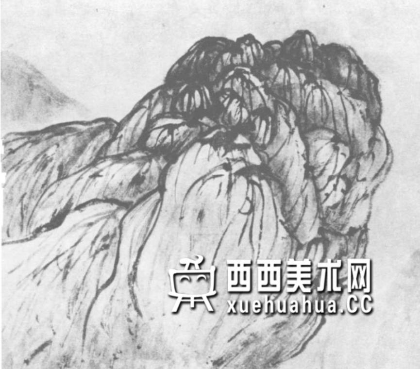 国画山石皴法详解(多图预警)(33)