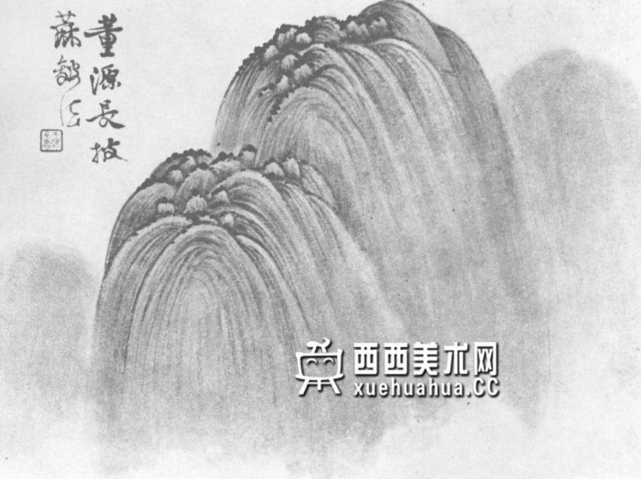 国画山石皴法详解(多图预警)(25)