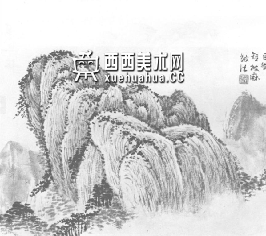国画山石皴法详解(多图预警)(32)
