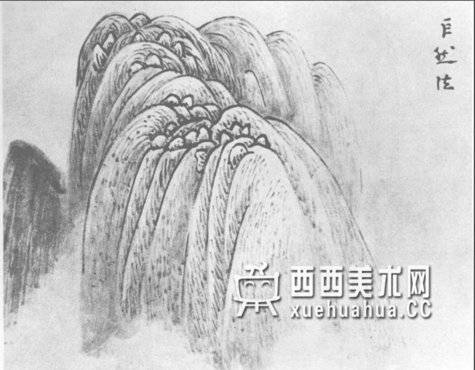 国画山石皴法详解(多图预警)(29)