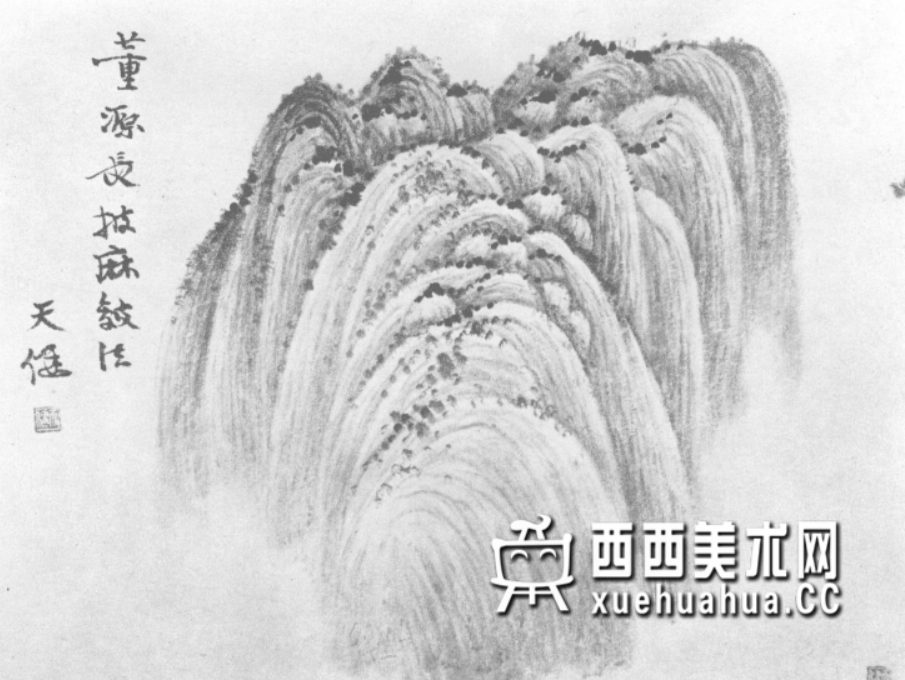 国画山石皴法详解(多图预警)(26)