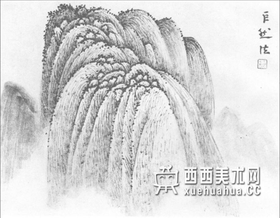 国画山石皴法详解(多图预警)(31)