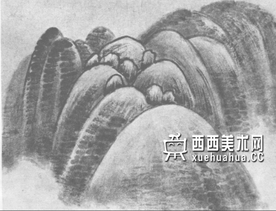 国画山石皴法详解(多图预警)(44)