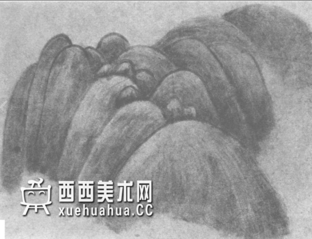 国画山石皴法详解(多图预警)(43)
