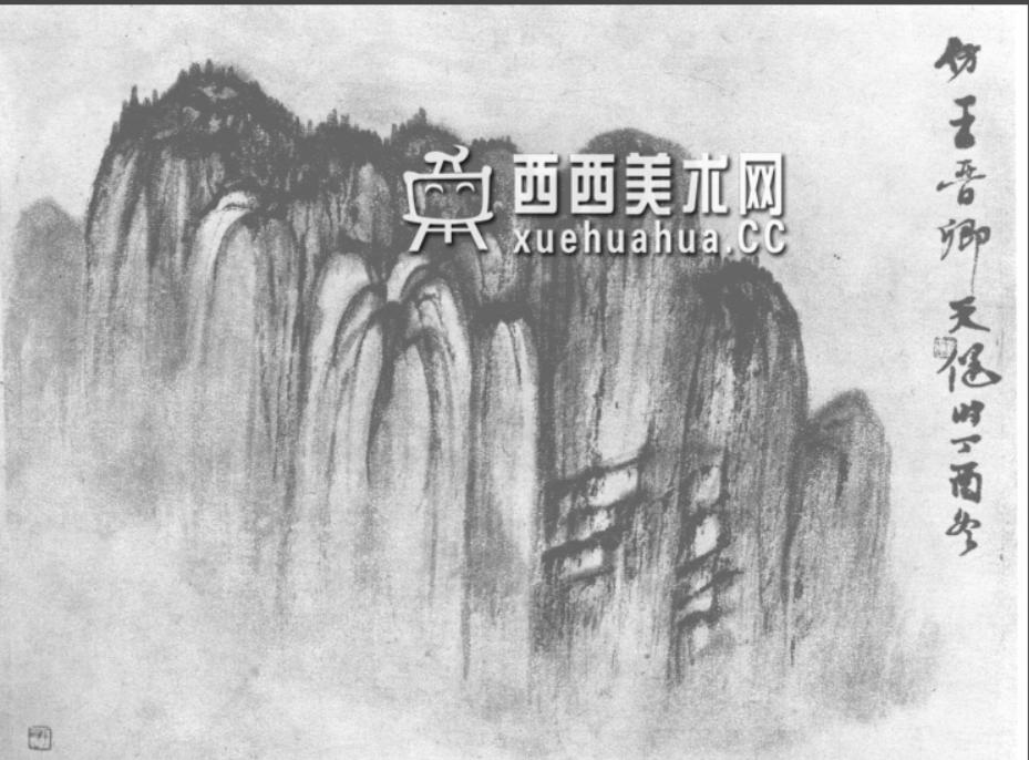 国画山石皴法详解(多图预警)(37)