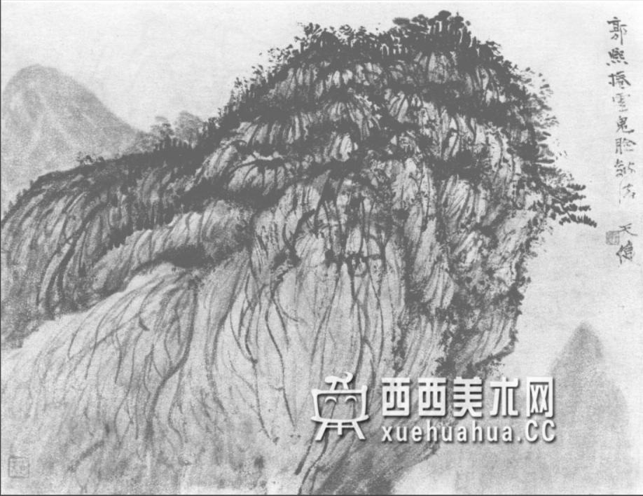 国画山石皴法详解(多图预警)(34)