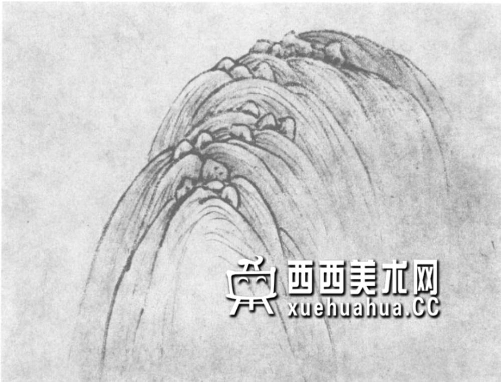 国画山石皴法详解(多图预警)(23)