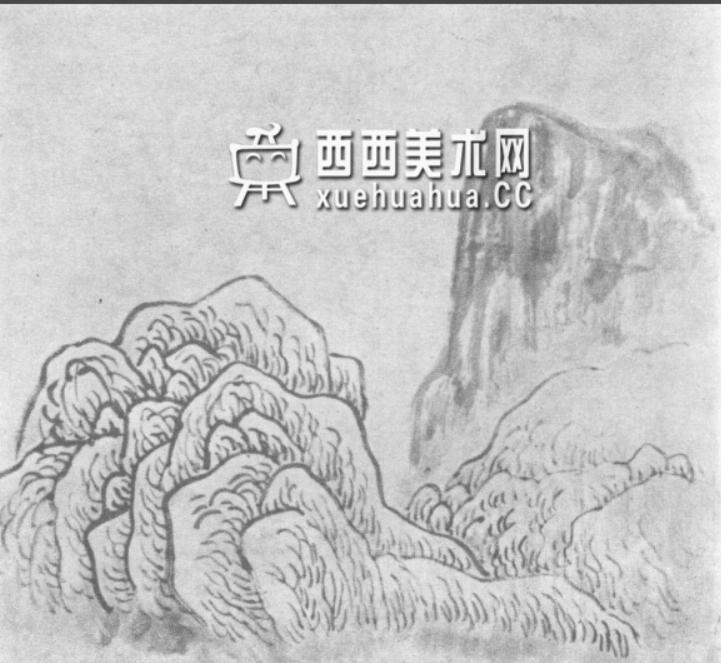 国画山石皴法详解(多图预警)(64)