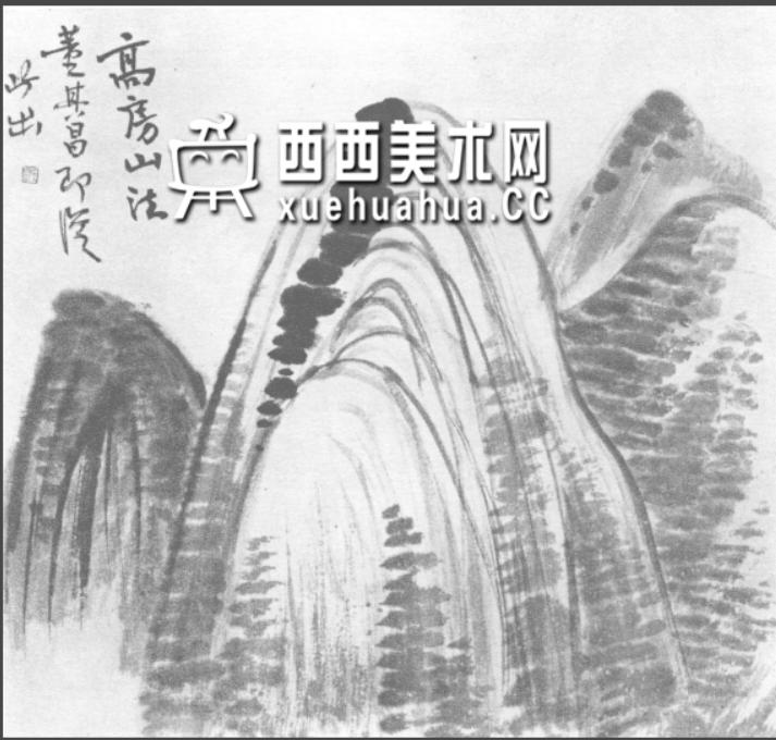 国画山石皴法详解(多图预警)(67)