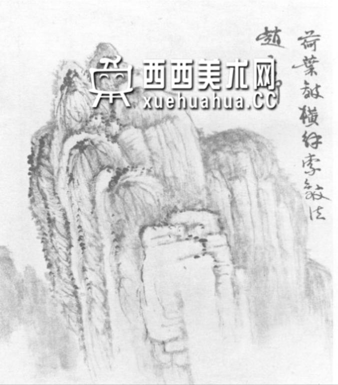 国画山石皴法详解(多图预警)(63)