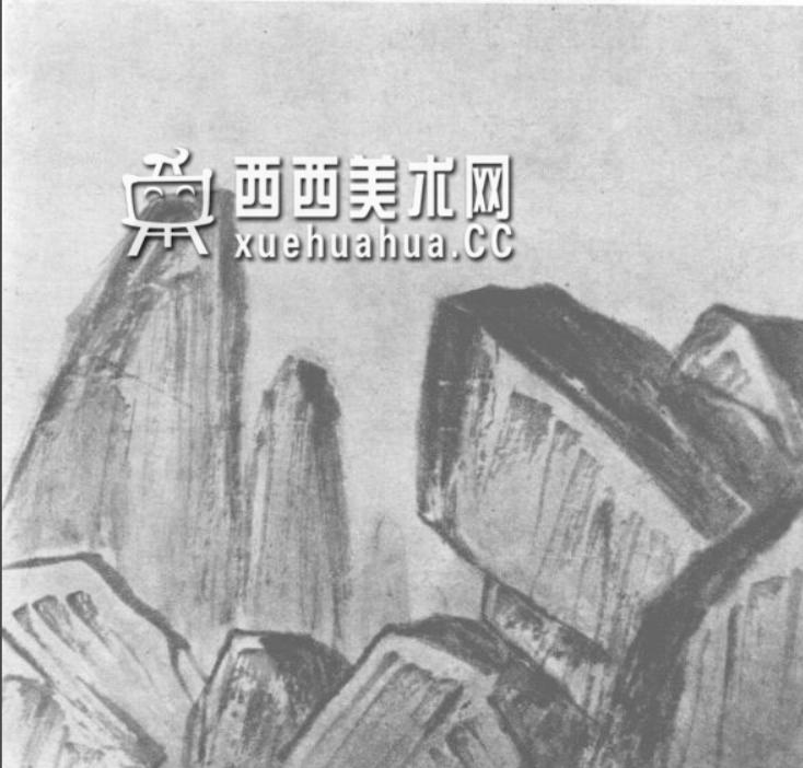 国画山石皴法详解(多图预警)(54)