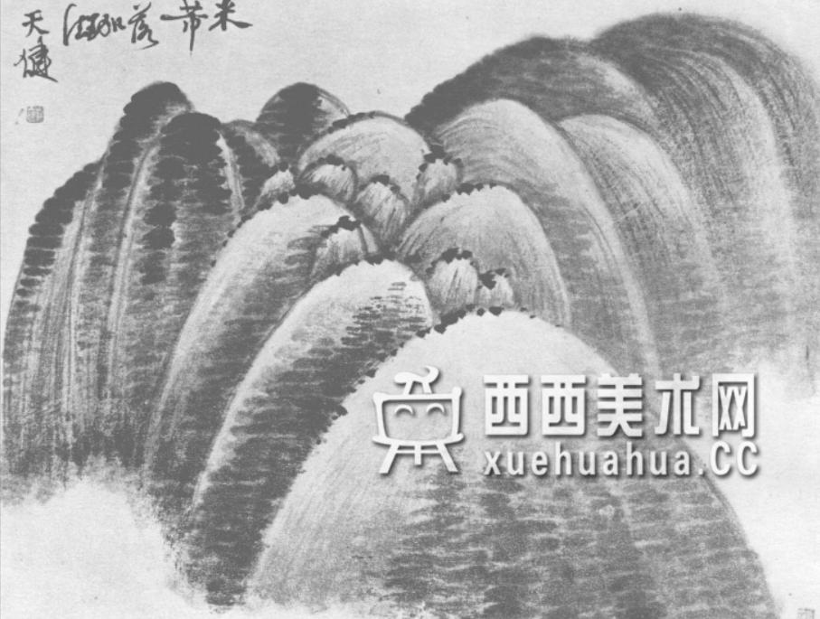 国画山石皴法详解(多图预警)(45)
