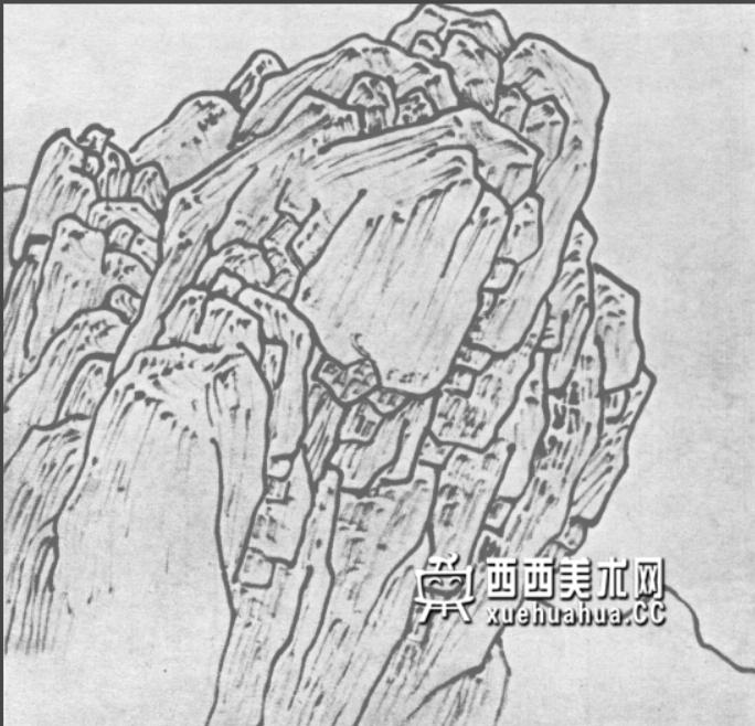 国画山石皴法详解(多图预警)(48)