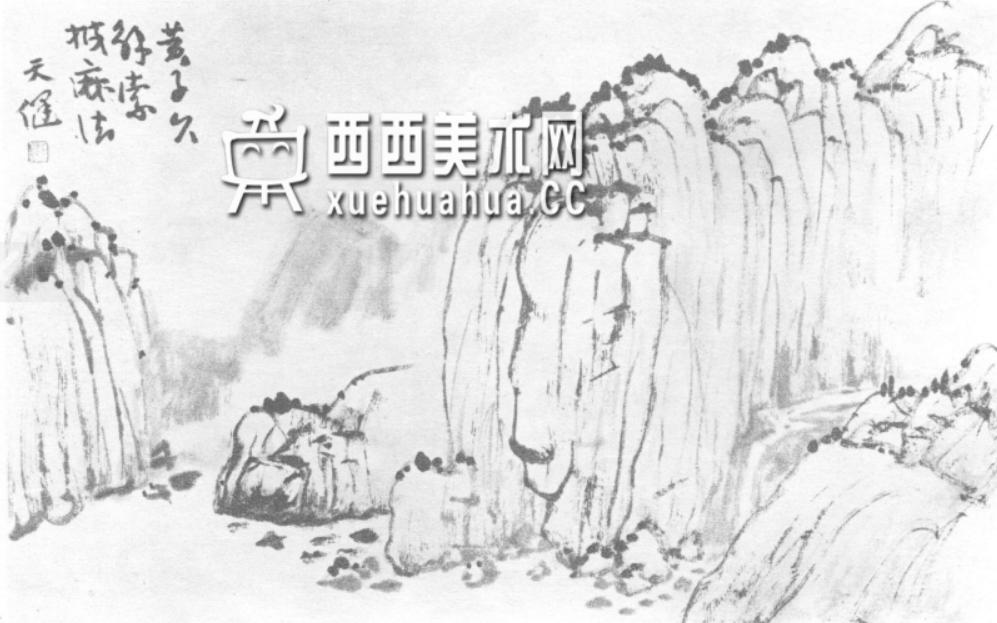 国画山石皴法详解(多图预警)(69)