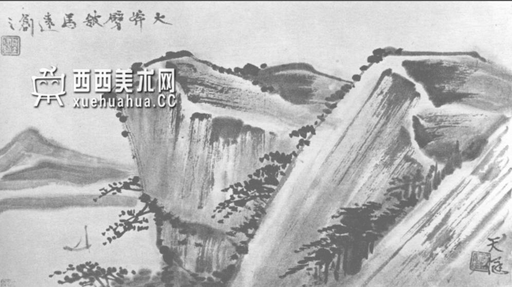 国画山石皴法详解(多图预警)(56)