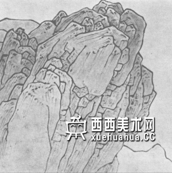 国画山石皴法详解(多图预警)(49)