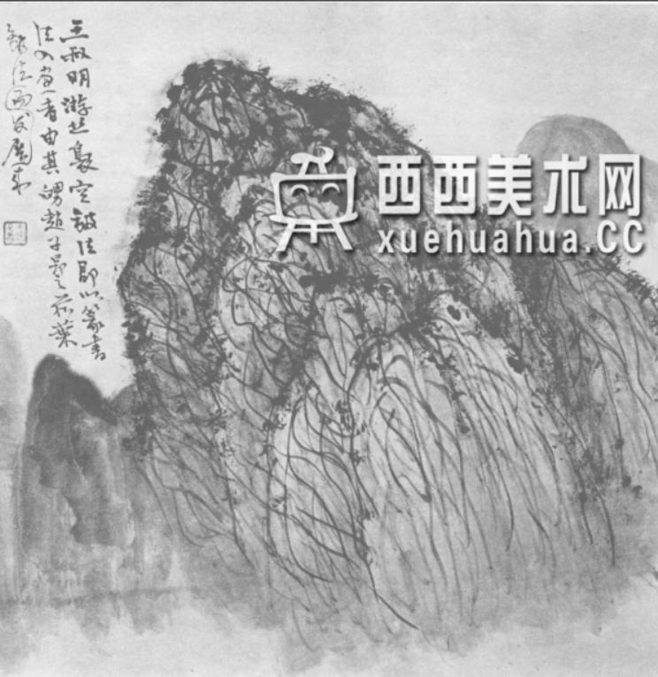 国画山石皴法详解(多图预警)(70)
