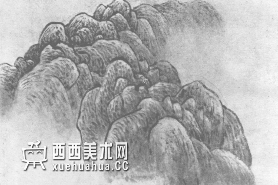 国画山石皴法详解(多图预警)(71)