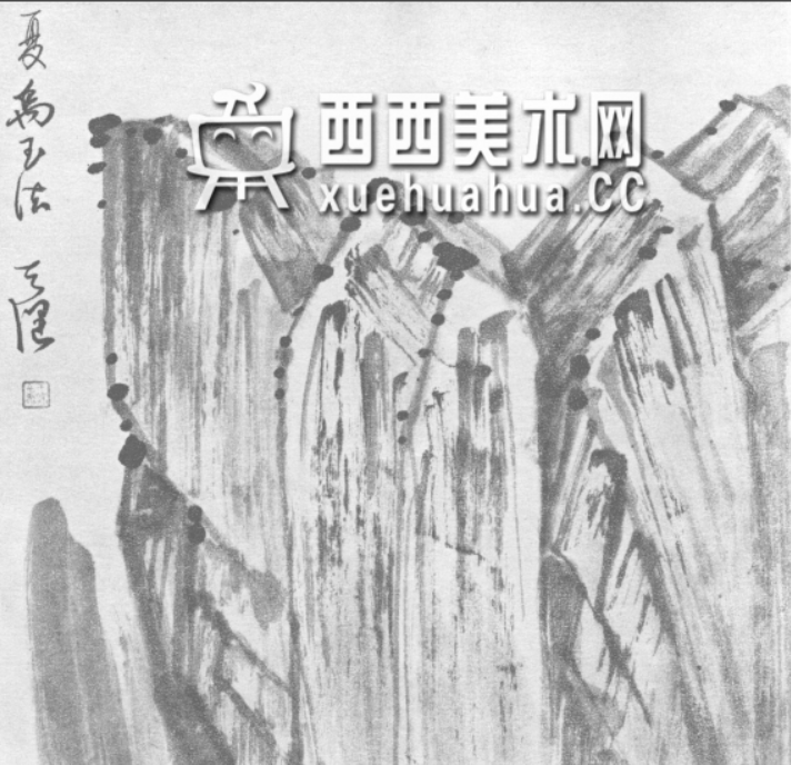 国画山石皴法详解(多图预警)(58)