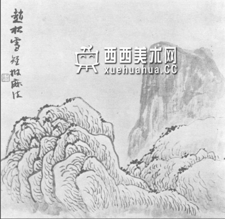 国画山石皴法详解(多图预警)(65)
